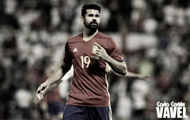 Diego Costa con la selección española/ Foto: Vavel