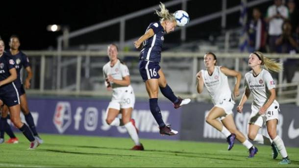 Julia Spetsmak was very powerful in the attack for NC. Photo: WRAL Sports Fan