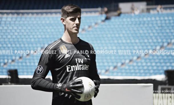 Courtois en su presentación con el Real Madrid | Fuente: Pablo Rodríguez, VAVEL