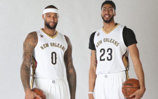 DeMarcus Cousins ed Anthony Davis, la nuova coppia dei Pelicans - Foto Sky Sport