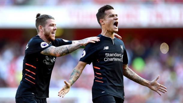 Coutinho's brace was the highlight of Liverpool's win at Arsenal. (Picture: Getty Images)