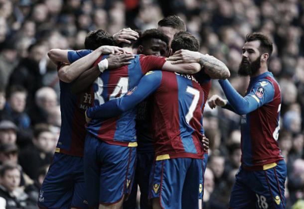 Palace celebrate the goal against Tottenham in the last round. | Image source: Getty Images