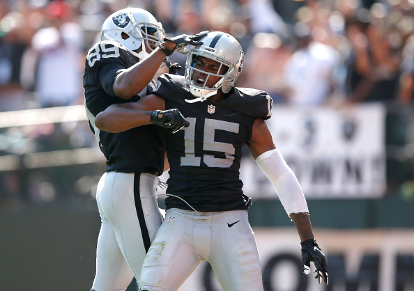 Amari Cooper (left) and Michael Crabtree (right) contributed heavily to the Raiders offense in 2015 | Getty Images