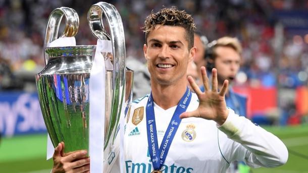 Cristiano Ronaldo tras ganar la Decimotercera en Kiev. Foto: UEFA.com