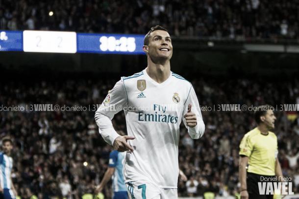 Cristiano Ronaldo festeja su gol al Málaga en Liga I Foto: Daniel Nieto (VAVEL)