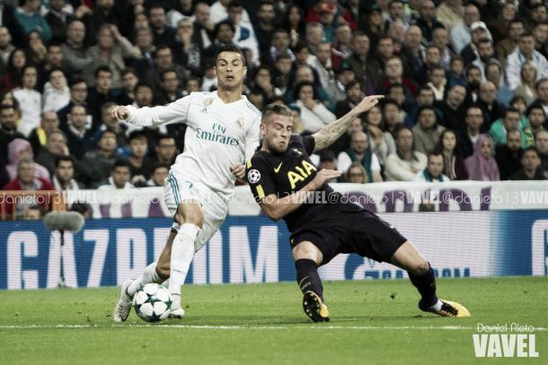 Cristiano en el partido contra el Tottenham esta edición de Champions I Foto: Daniel Nieto (VAVEL)