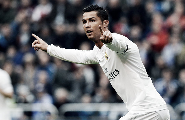 Cristiano Ronaldo celebrates the opening goal | Photo: Miguel Riopa/Getty Images