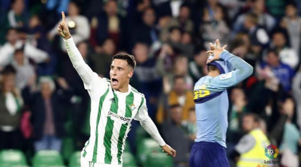 Tello celebrando un gol | Fotografía: La Liga