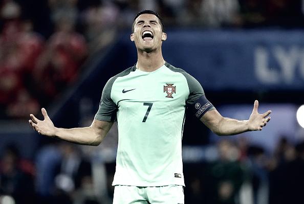 Cristiano Ronaldo em partida da Eurocopa (Fonte:Getty Images)
