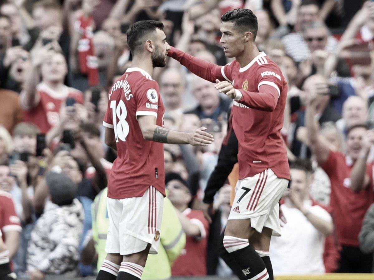 Cristiano y Bruno, alegría portuguesa para el United   Foto: Manchester United