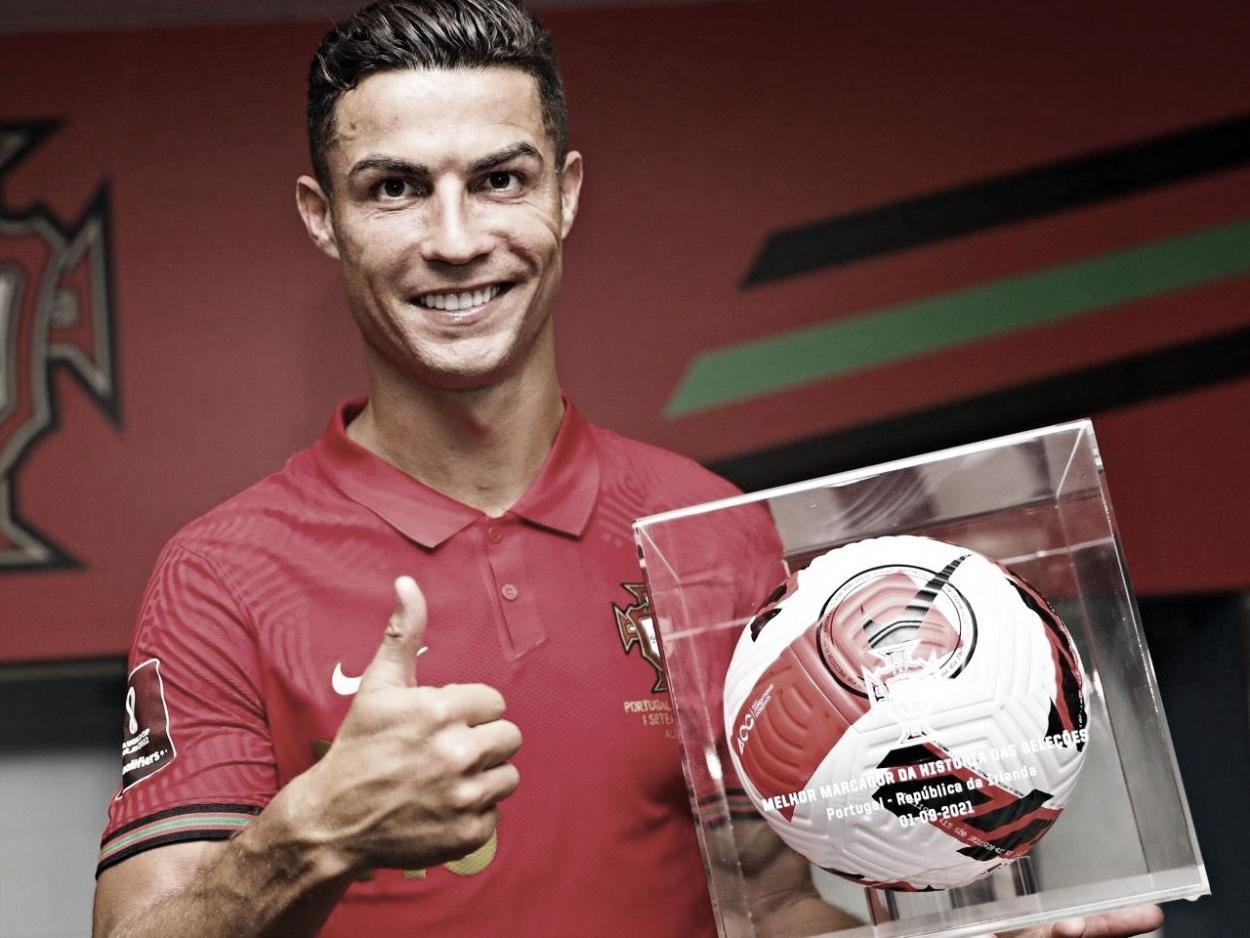 Cristiano se llevó un recuerdo muy especial | Foto: UEFA