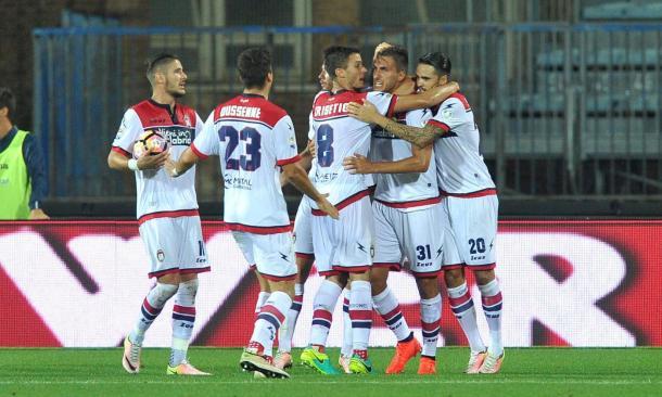 Esulta il Crotone ad Empoli, dopo il gol del momentaneo pareggio - Foto Getty Images