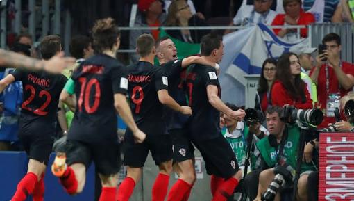 Los croatas festejando el gol de Mandzukic | Foto: FIFA
