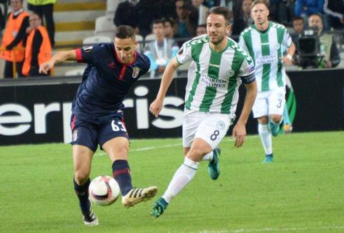 Il Braga in fase d'impostazione. | Twitter, Konyaspor.