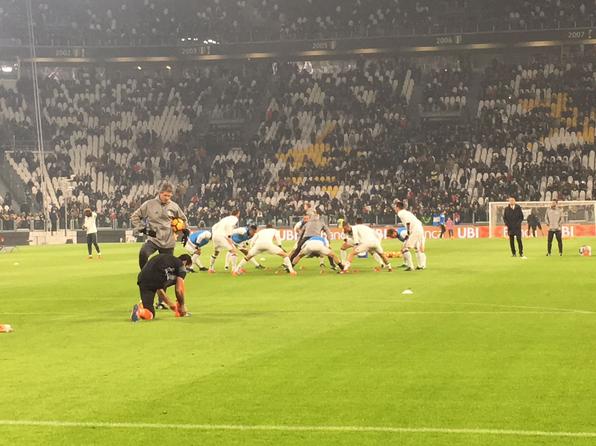Il riscaldamento della Juventus. | Twitter, Juventus FC.