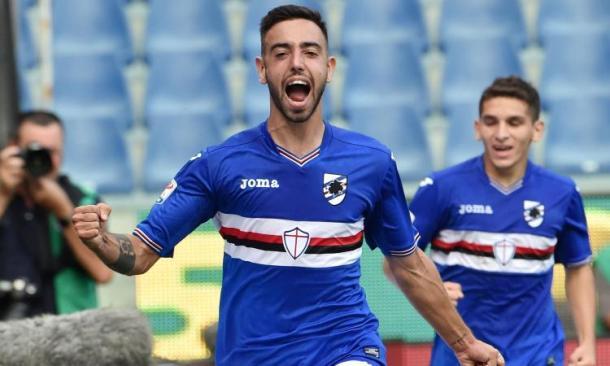 Bruno Fernandes festeggia la rete dell'1-1 al Crotone. | calciomercato.com