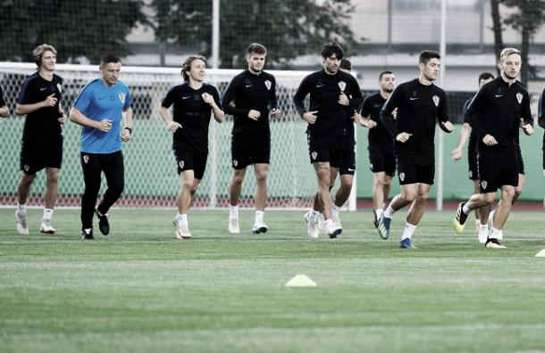 Los croatas realizando uno de sus entrenamientos | Foto: HNS