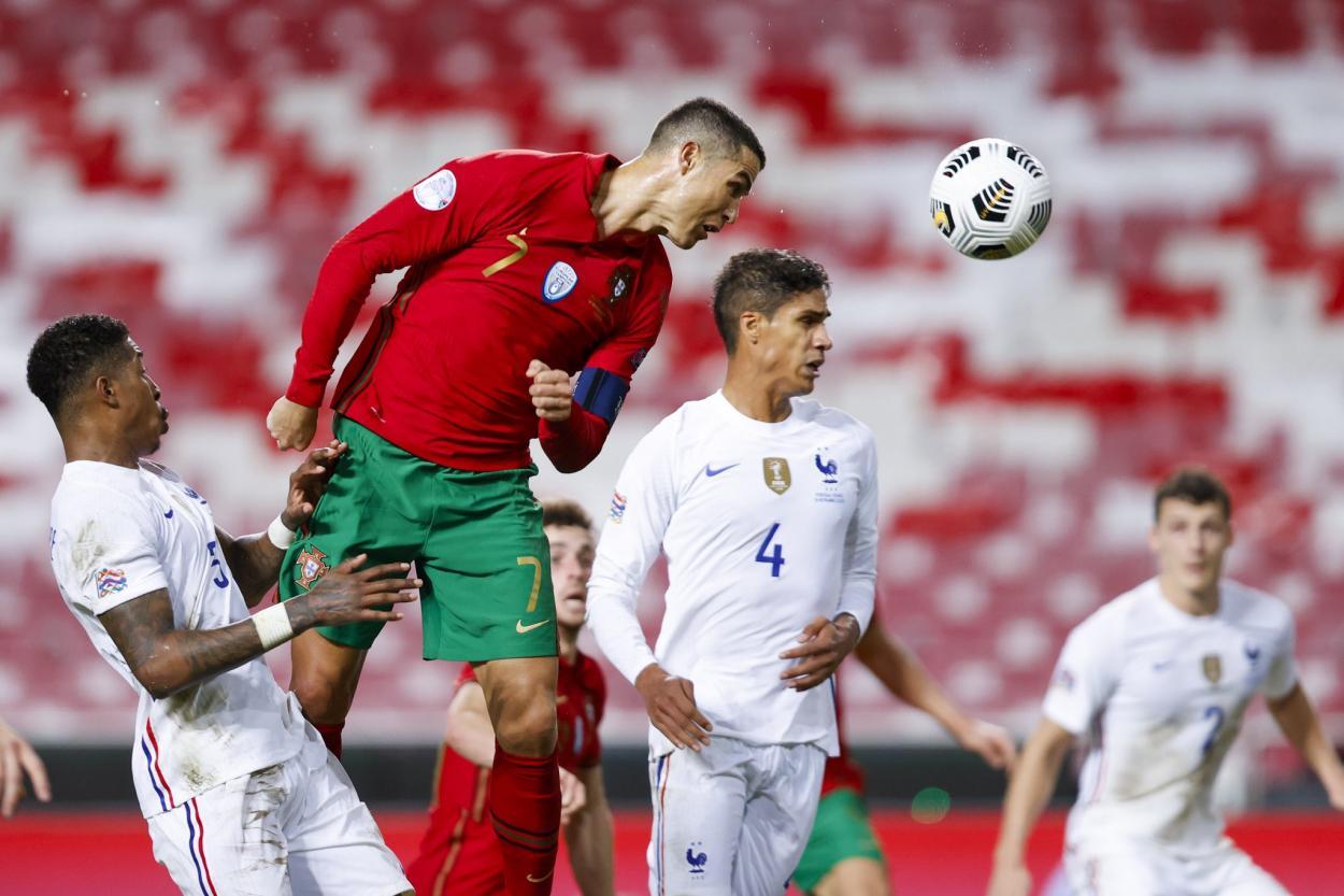 Cristiano Ronaldo contra Francia en la UEFA Nations League / Foto: Portugal