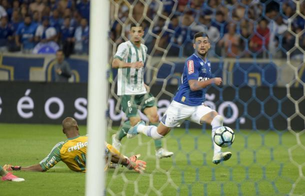 O jogador jogou alguns minutos diante do Palmeiras na última quarta-feira(26). (Foto: