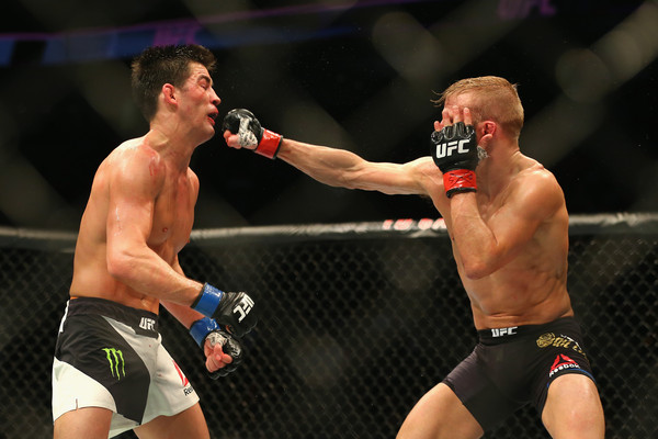 Cruz remained aggressive throughout the fight. Credit: Maddie Meyer/Getty Images North America