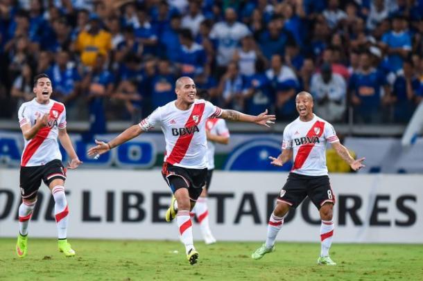 Maidana anotó un golazo en la victoria fundamental conseguida ante Cruzeiro en Brasil (Foto: LPM).
