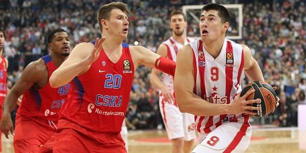 CSKA Mosca-Stella Rossa: instantanee dell'andata (fonte Euroleague.net)