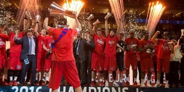 La alegría del campeón. Fuente: Euroleague