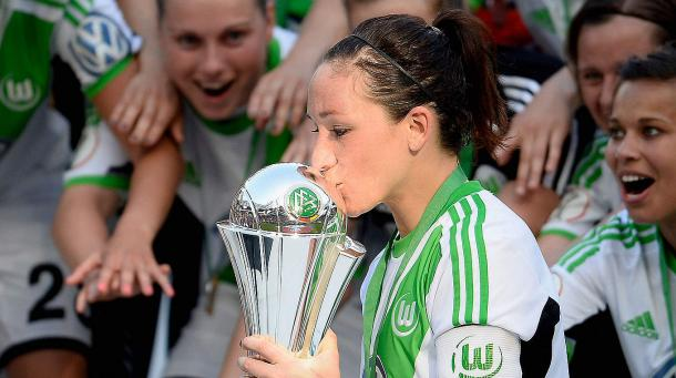 Nadine Keßler won almost everything on offer to her as a footballer, before her career was cut unfortunately short by injury. (Photo: DFB)