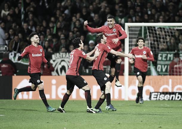 Los jugadores de Eintracht celebrando un gol | Fuente: Eintracht Frankurt