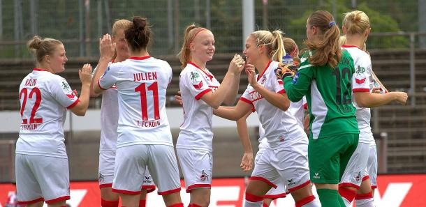Can Köln show the team spirit needed to at least keep themselves in the top flight for another week? (Photo: 1. FC Köln)
