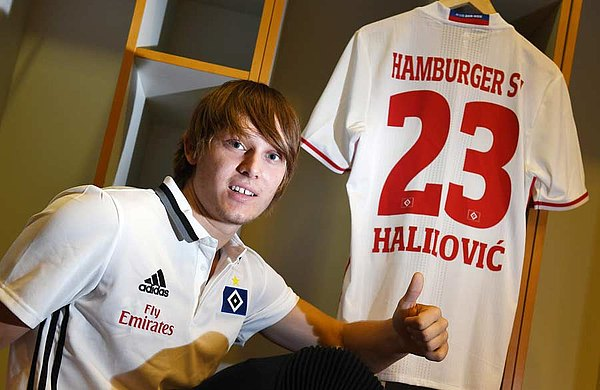 Halilovic happy with his new number | Photo: hsv.de
