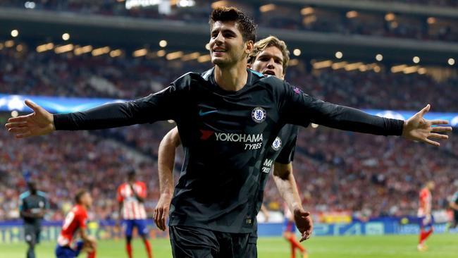 Celebración de Morata. Foto: El desmarque