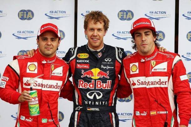 Los tres pilotos más rápidos de la clasificación. Fuente: Fórmula 1