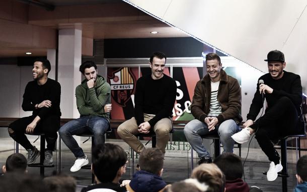 Ledes, Guzzo, Garai, Olmo y Querol respondieron a las preguntas de los más jóvenes | Foto: CF Reus
