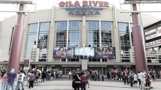 Los Arizona Coyotes disputan sus partidos, al menos de momento, en el Gila River Arena | Foto: NHL.com