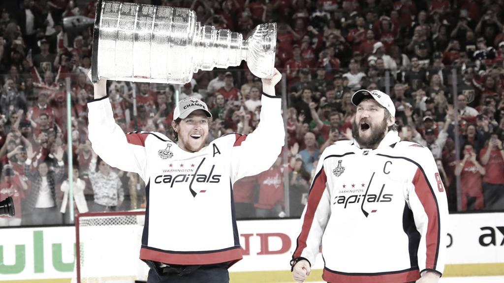 Nicklas Backstrom y Alex Ovechkin | Foto: NHL.com