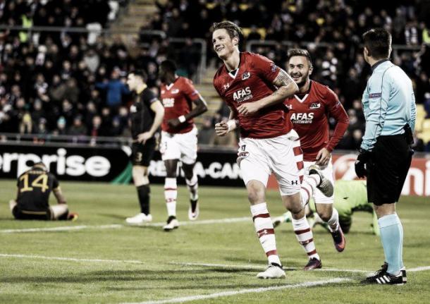 Weghorst celebrando el gol   Foto: RTÉ Soccer