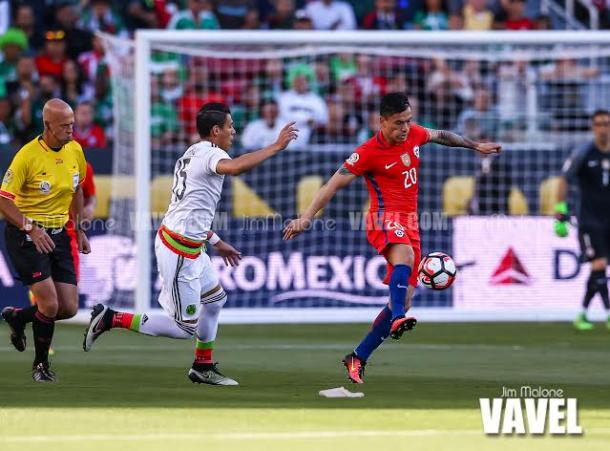 Mexico failed to slow down Chile's attack on Saturday at Levi's Stadium. Photo provided Jim Malone-VAVEL USA.