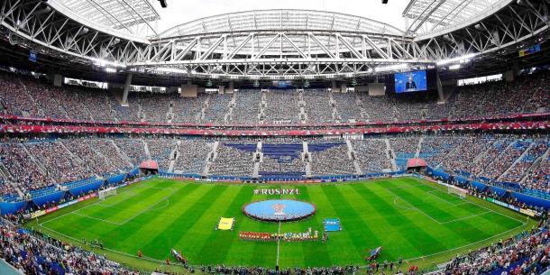 Le stade Kretovski du Zenit Saint-Petersbourg. (65 000 places) - FIFA.com
