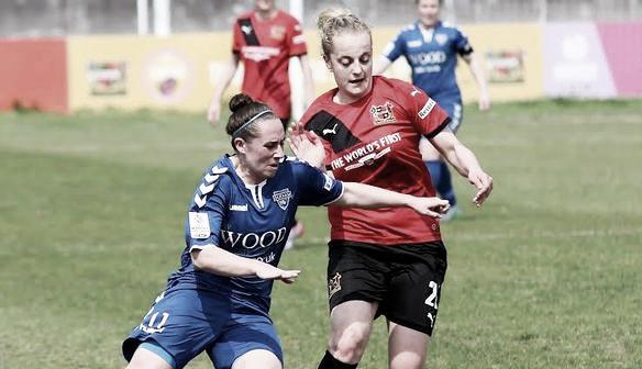 Above: Durham Women FC in action against Sheffield Ladies FC | Photo: durham.fawsl.com