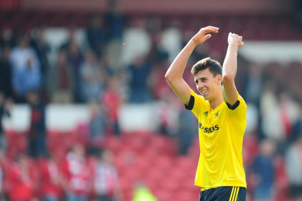 Ayala is one of the fans' favourites at the Riverside | Photo: Northern Echo