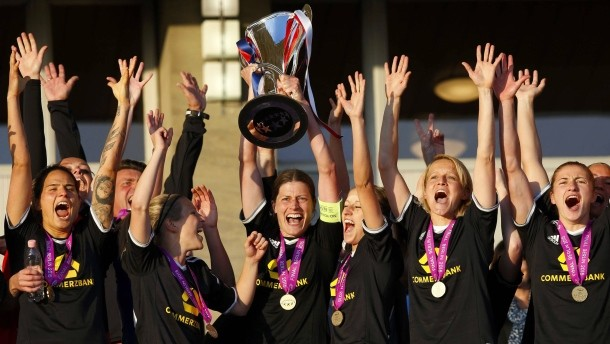 Frankfurt were crowned European Champions in May after they defeated Paris Saint Germain 2-1 in the final. (Photo: Faz)