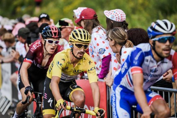 Alaphilippe quiere recuperar el maillot amarillo. | Foto: LeTour