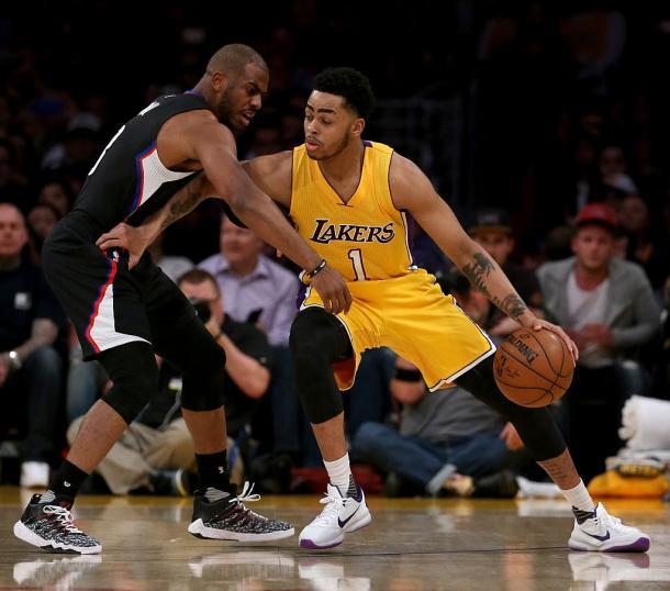 Russell contro Paul, il giovane rampante contro l'esperto campione - Foto iSportsTimes.com