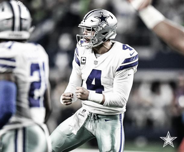 Dak Precott, mariscal de campo de los Vaqueros (foto Dallas Cowboys)