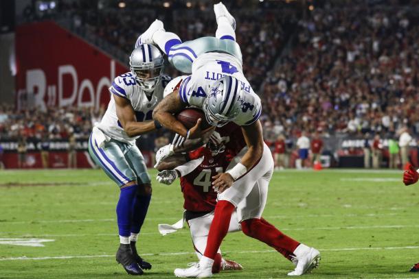 Il touchdown su corsa di Dak Prescott. Fonte Immagine: NFL.com