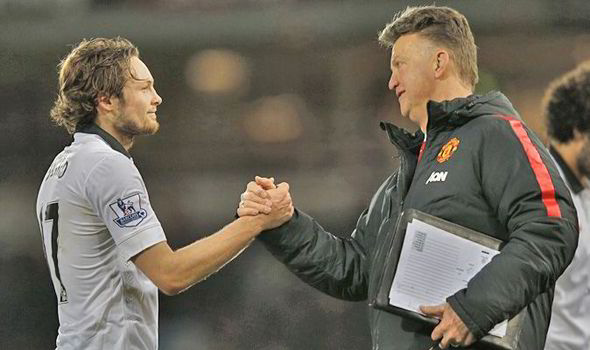 Blind had an excellent relationship with van Gaal at United | Photo: Getty