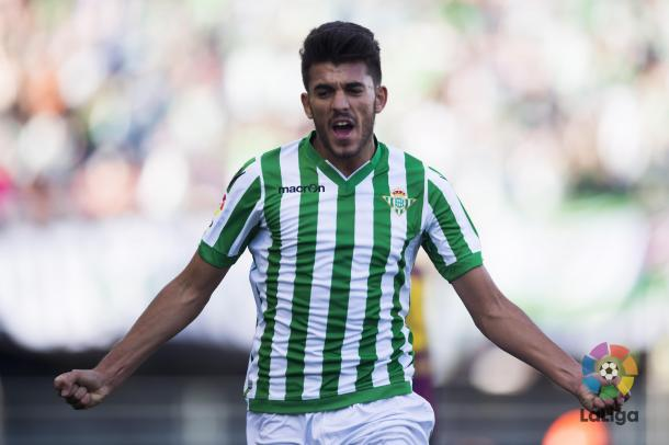 Teenager Dani Ceballos scored Betis' second | Photo: udlaspalmas.net