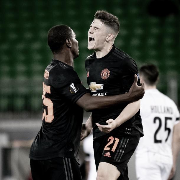 Gol Daniel James./ Foto: Europa League