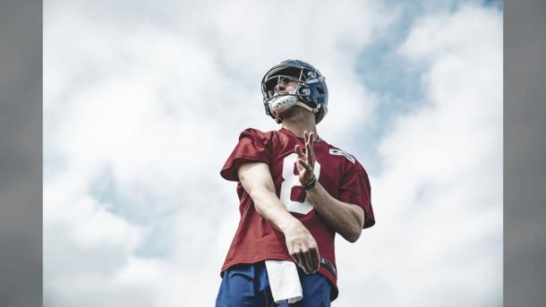 Daniel Jones, el Qb del futuro de los Giants (foto Giants.com)